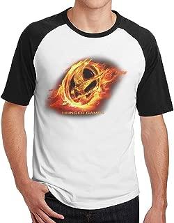 Hunger Games2 Black Cotton Male Raglan T Shirts
