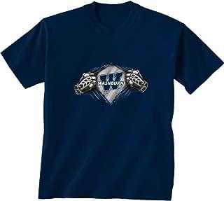NCAA Washburn Ichabods Children Unisex Youth Super Short Sleeve Tee, Medium, Navy