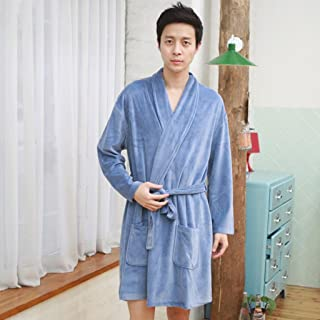 ZLR 春と秋のカップルのバスローブ快適な暖かい純粋なコットンの家の服ローブ ( サイズ さいず : B )