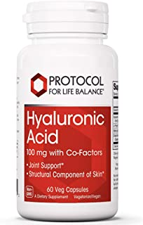 Protocol For Life Balance - Hyaluronic Acid - 100 mg with Co-Factors for Overall Tissue Health Including Joint Support and...