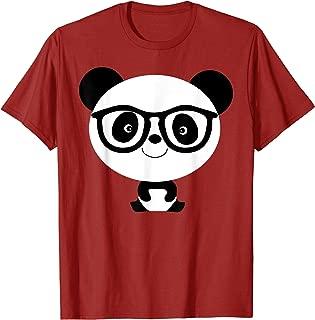 Baby Panda Bear Nerd Shirt | Cool Black White Admirer Gift