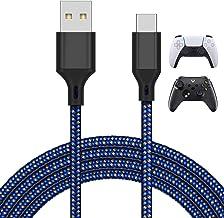 Cabo carregador de 4 metros para PS5 e Xbox Series X/S Controller/Switch Pro Controller, cabo de carregamento USB de subst...
