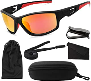 MAXJULI Polarized Sports Sunglasses for Men Women Tr90...