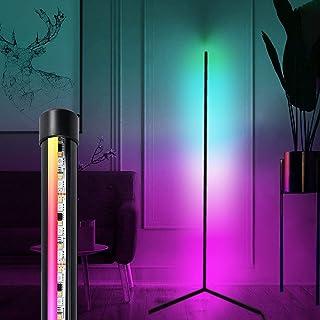 Lampadaire LED de 156 cm, télécommande réglable et télécommande de salon, lampadaire noir moderne à changement de couleur ...