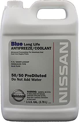 amazon com genuine nissan fluid 999mp l25500p blue long lifeamazon com genuine nissan fluid 999mp l25500p blue long life antifreeze coolant 1 gallon automotive