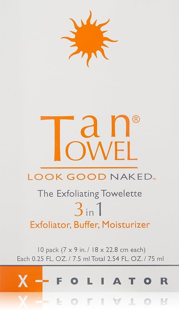 勉強する誇大妄想炎上Tan Towel エクスフォリエイティングペーパータオル10カウント 10のペーパータオル