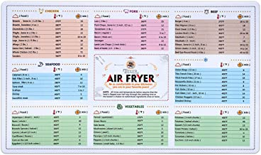 Air Fryer Magnetic Cheat Sheet Cookbook Cooker Accessories Magnet Cooking Times Chart Quick Reference Guide for 66 Common ...