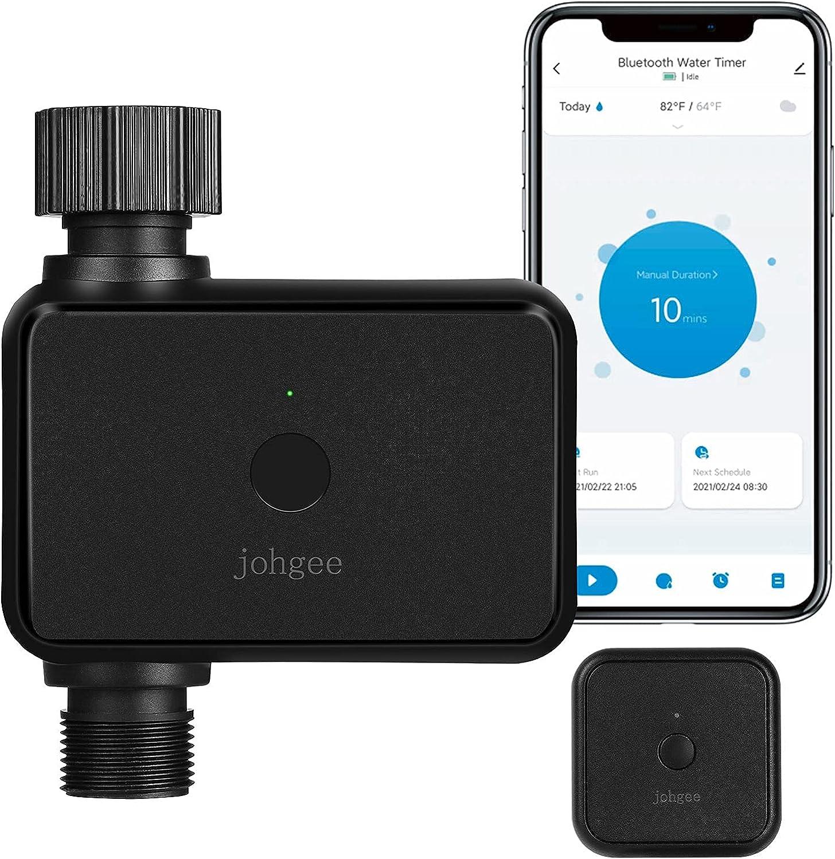 Temporizador de agua inteligente para rociadores con concentrador Wi-Fi, temporizador de manguera Bluetooth con retardo de lluvia para grifo de césped de jardín al aire libre
