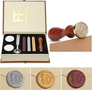 Mingting Wax Seal Stamp Kit,Mingting Classical Old-Fashioned Antique Wax Stamp Seal Kit Initial Letters Alphabet Set Gift ...