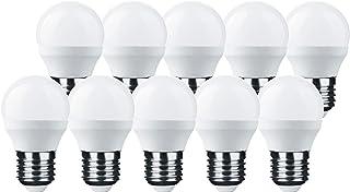 LumCa Pack de 10 bombillas LED P45, 6 W, luz diurna, E27, equivalente a 45 W, 6000 K, 600 lúmenes, no regulable, 220-240 V, ángulo de haz de 270°, forma de gota E27, LED Globe E27