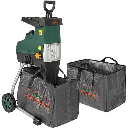 Gardebruk Trituradora silenciosa 2800W Herramienta de jardín para Ramas Empuje autómatico Bolsa 60L
