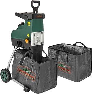 """Gardebruk Trituradora silenciosa de 2800W con bolsa sistema de """"empuje autómatico"""" protección peso17 kg madera ramas jardín"""