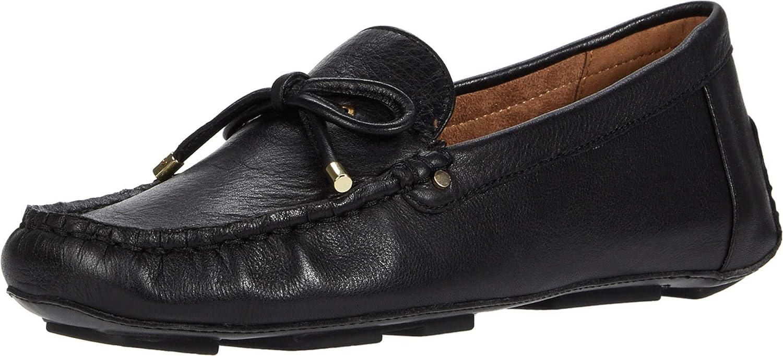 Aerosoles Women's Brookhaven Driving Style Loafer, Black Leather, Medium