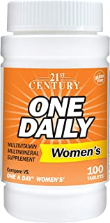 21st Century One Daily Women's Tablets, 100 Count