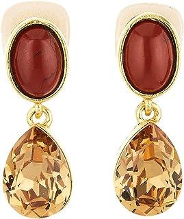 Oscar de la Renta Red Jasper Earrings