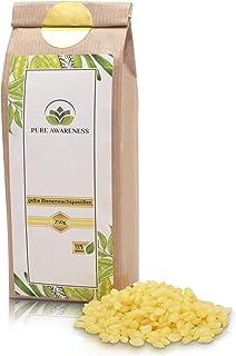 PURE AWARENESS Bienenwachs Pastillen - 250g - 100% natürlich - Bienenwachs - ungebleicht - perfekt geeignet für Kosmetik, Bienenwachskerzen und vielen mehr