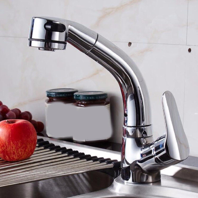 Küche mit herausziehbarer Dual-Spülbrause,Kaltes Heies Wassert Robinet de cuisine complet en cuivre à commande télescopique à 360 degrés avec robinet de cuisine à extension à chaud et à froid