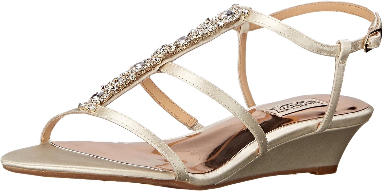 Badgley Mischka Womens Carley Wedge Sandal