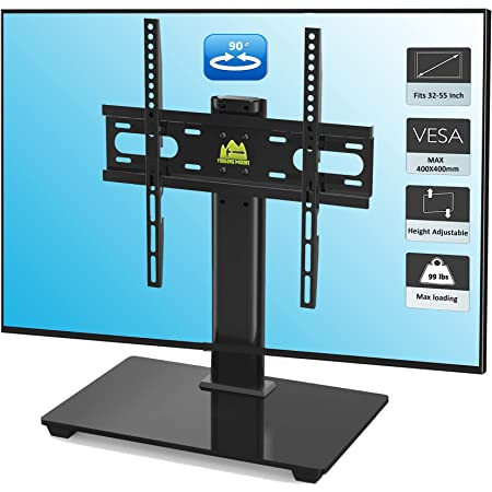 Table Top TV Stand for 27-55 inch LCD LED TVs Universal Swivel TV ...