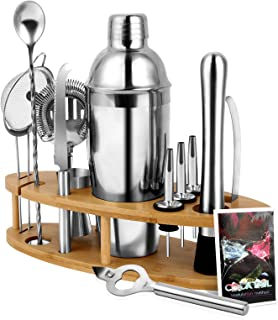 Cocktail Shaker Set, AXUAN 13-Piece Bartender Kit with...