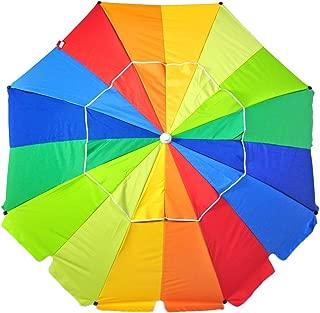 Shadezilla 8 ft Platinum Heavy Duty Beach Umbrella with Reinforced Fiberglass Ribs, Carry Bag, Accessory Hanging Hook, UPF100