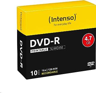 Intenso 4801652 DVD Recordable Media - DVD-R - 16x - 4.70 GB - 10 Pack Slim Case - 120mm - Printable