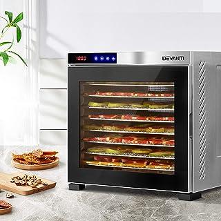 DEVANTi Commercial Food Dehydrator 10 Trays 304 Stainless Steel Fruit Dryer