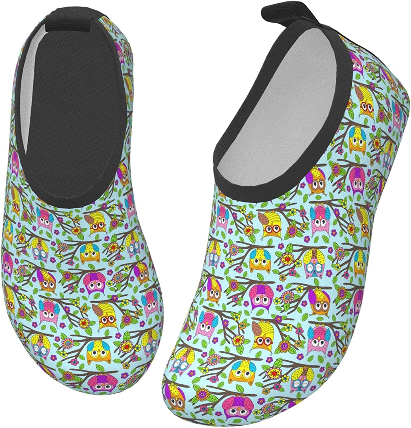 Halloween Colorful Animal Autumn Owl Children's Water Shoes Feel Barefoot for Swimming Beach Boating Surfing Yoga