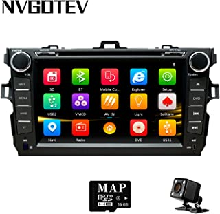 NVGOTEV Car Stereo Headunit Fits for Toyota Corolla 2007 2008 2009 2010 2011 DVD Player Radio 8 Inch HD Touch Screen GPS N...