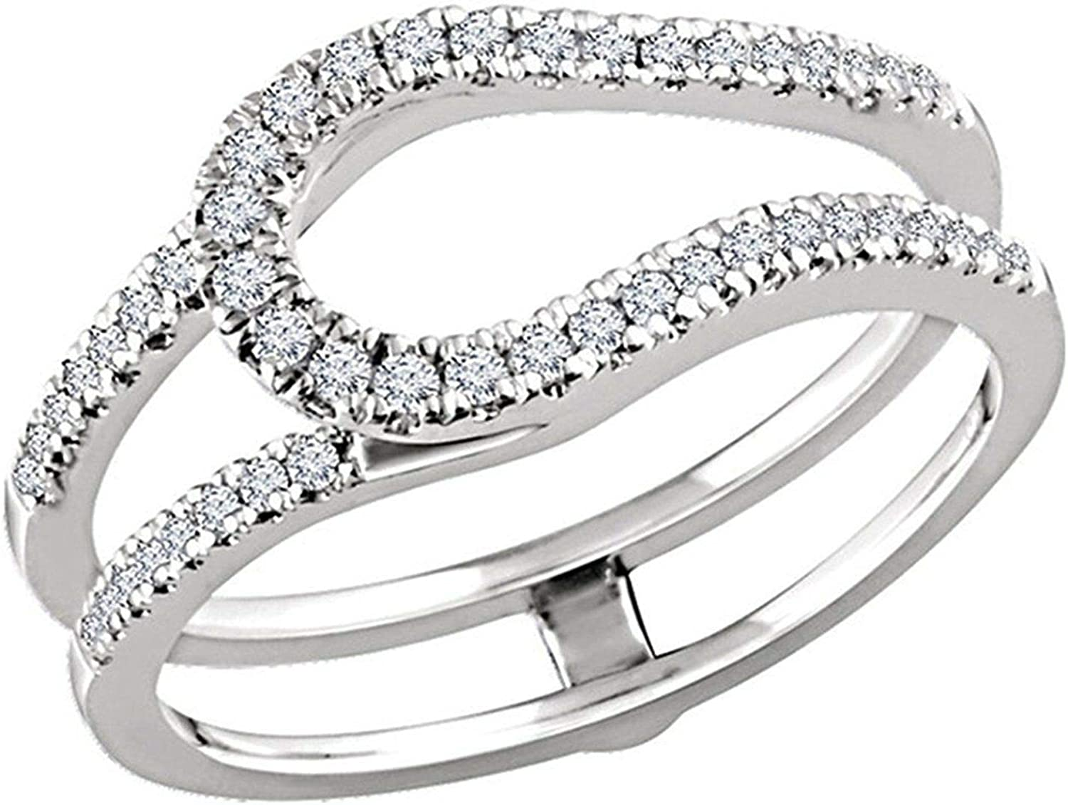 Palaksh Year-end annual account Jewelry Round Cut White Gold Over 925 Diamond 14K Financial sales sale