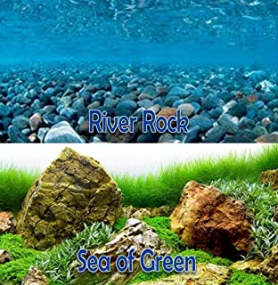 "New Seaview RiverRock/Sea of Green 24"" Aquarium Reversible Background BGAQ3-24"