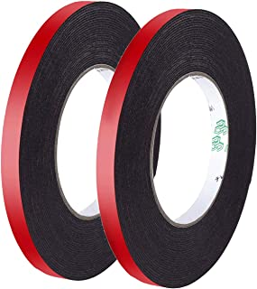 2 Rolls PE Foam Double Sided Tape, Waterproof Mounting Adhesive Tape Roll for Automotive Mounting/Weatherproof Decorative/Trim/Car Trim Strip/Photo Frame/Construction(Wide 2/5 in Long 33 Ft)