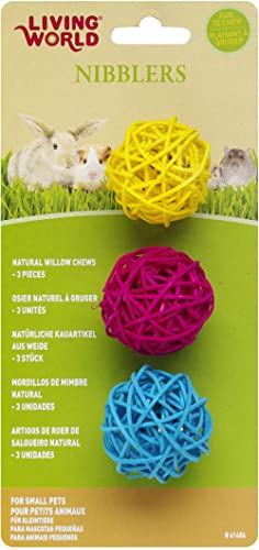 Living World Nibblers, Willow Chews, Balls