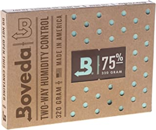 BOVEDA 75% RH (320 Gram) 2-Way Humidity Control Pack Humidifier/Dehumidifier for Large Humidors -by Boveda Inc.
