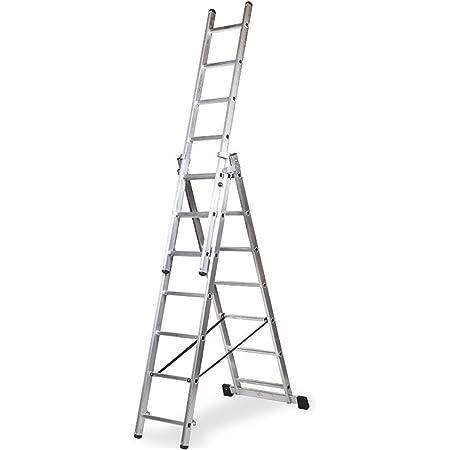 WOLFPACK LINEA PROFESIONAL 23020001 Escalera Aluminio 2 Tramos 7+7 Pelda/ños