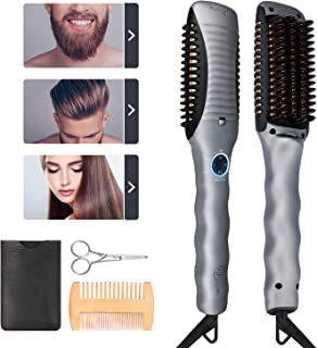 Beard Straightener for Man - Beard Straightening Comb Heated Hair Straightening Styling Comb Hair Straightener for Man/Woman Multifunctional Hair Styler Works on Beard Essential oil/Beard Shaver