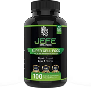 Jefe Organics Wildcrafted Irish Sea Moss Extract Capsules with Bladderwrack & Burdock Root - Dr. Sebi Inspired for Immune System and Thyroid Support