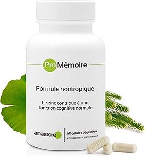 PRO MEMORIA * 337 mg / 60 cápsulas * Fórmula nootrópica con extractos titulados * Cerebro (memoria)