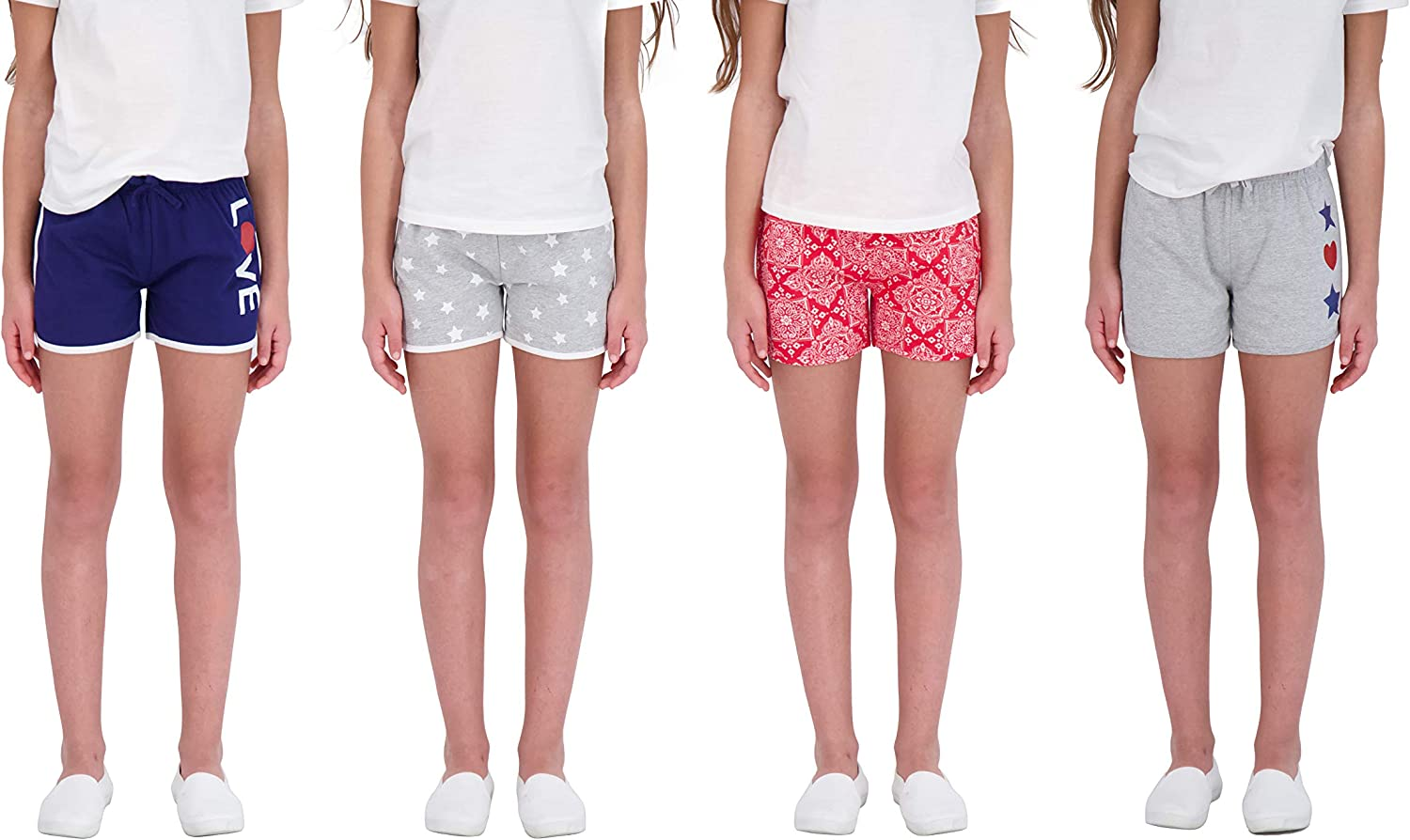 Star Animer and price revision Ride Sweet Butterfly 4PK Athletic Girls Shorts Some reservation Dolphin Yog