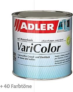 ADLER Varicolor 2in1 Acryl Buntlack für Innen und Außen - 750 ml Weiß Weiß - Wetterfester Lack und Grundierung für Holz, Metall & Kunststoff - Seidenmatt