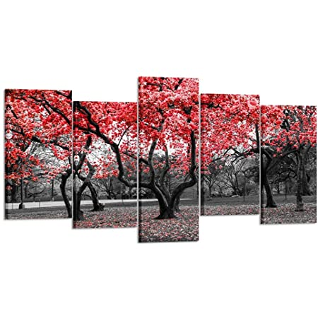 CSDECOR 5 Pieces Artwork Canvases Paintings 200X100 Cm 5 Piece Canvas Art Milk Cow Painting Wall Pictures For Living Room Posters Home Decoration Prints