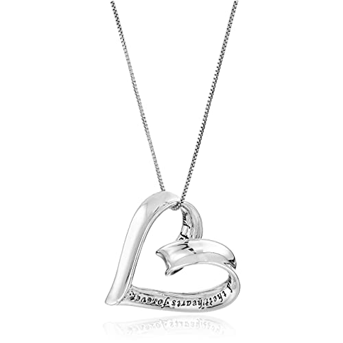 d92e646c6 Sterling Silver A Mother Holds Her Child's Hand Heart Pendant Necklace, ...