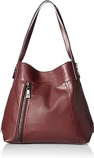 gigi black leather shoulder bag