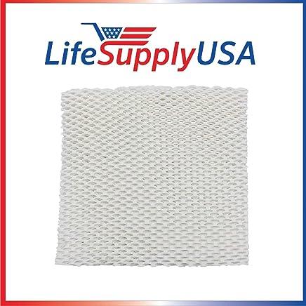 LifeSupplyUSA 替换加湿器垫芯滤芯适合 Honeywell HAC-801、HCM-88C、HCM-3060、Duracraft DH-800 801 812 840 799 7800 1005 DU3-C、Kenmore 1478、14108 加湿器