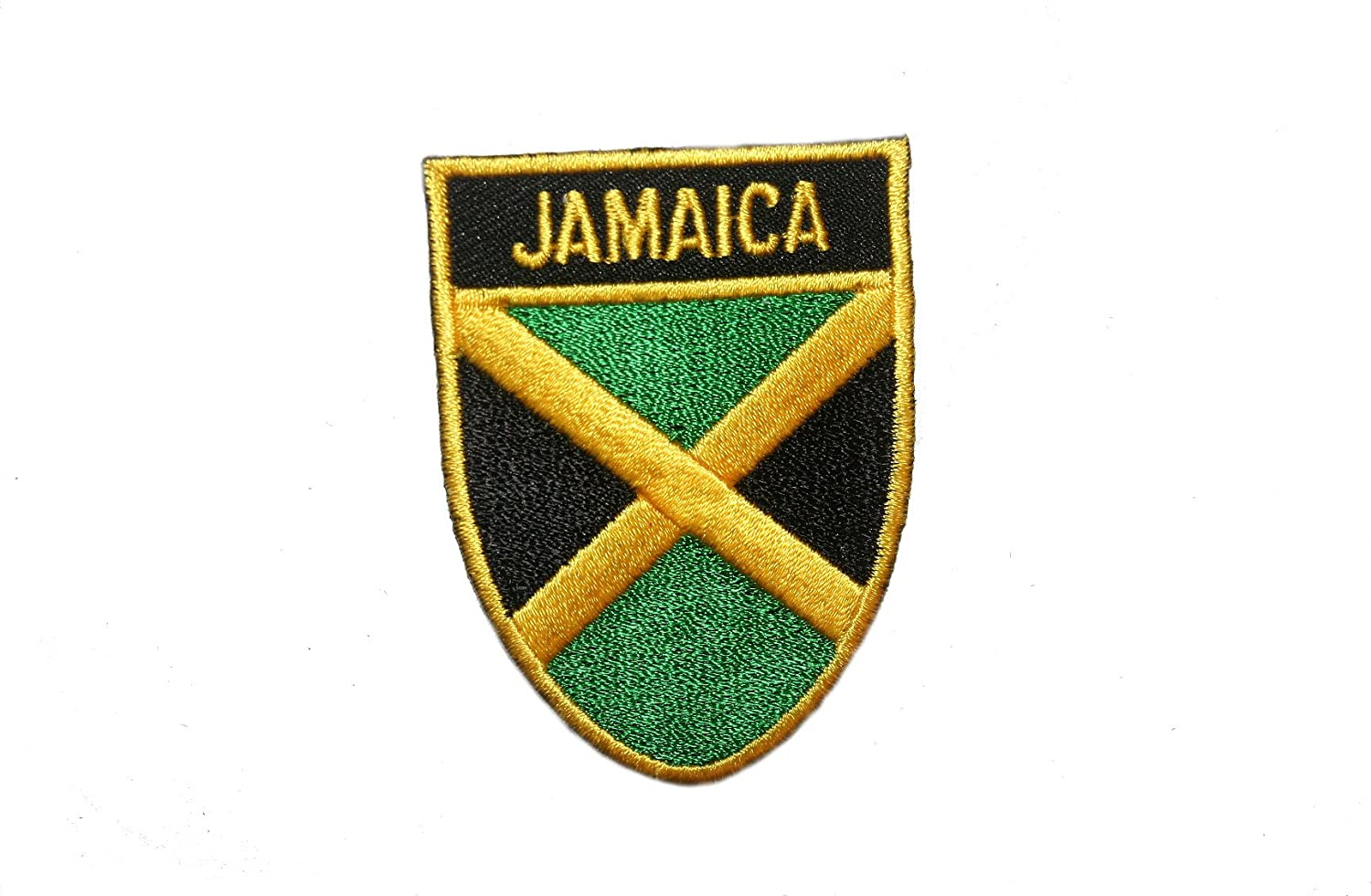 Jamaica Country Flag sale OVAL SHIELD Iron Embroidered Department store on Patch Crest