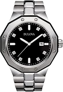 Men's Silver Diamond Dial Watch 98D103