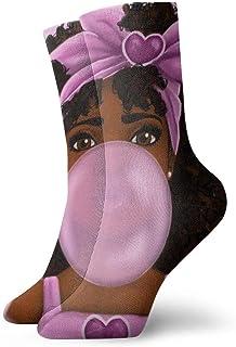 Kevin-Shop Niña Africana Burbujas Calcetines de Goma Calcetines de Vestir Casuales Ropa de Moda Calcetines Lindos Calcetín...