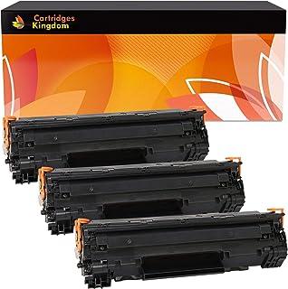 Cartridges Kingdom Pack de 3 Cartuchos de tóner láser compatibles con HP CB435A 35A para HP Laserjet P1005 P1006 P1007 P1008 P1009 Canon i-SENSYS LBP-3010 3100 LBP-3018 3108 3050 3150 3010 3100