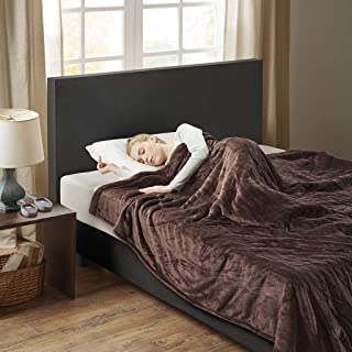 Woolrich Elect Electric Blanket with Two 20 Heat Level Setting Controllers, Queen, Chocolate