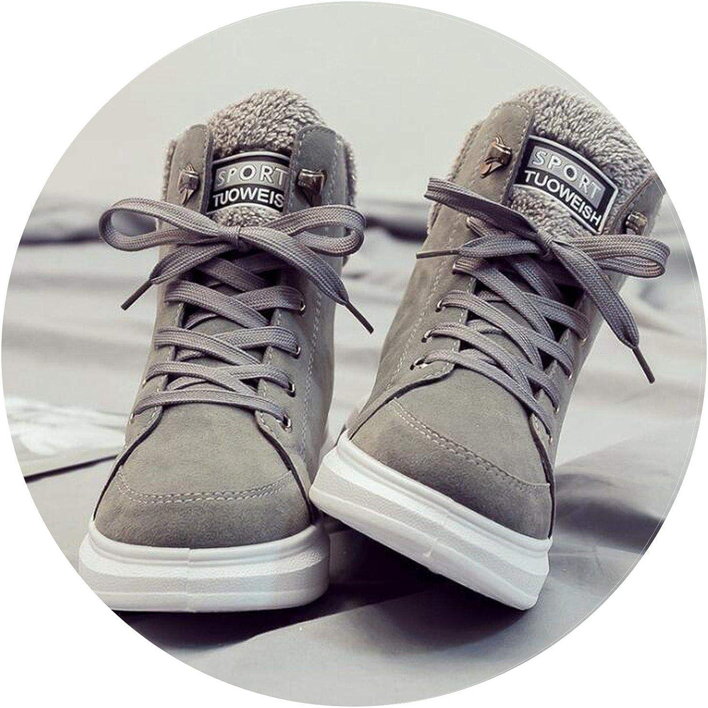 Summer-lavender Fur Warm Ankle Boots Lace-up Women Cotton shoes Snow Boots Winter Wedge Women Boots